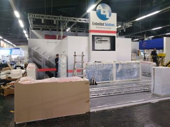 setup the ADL booth at Messe Nuremberg